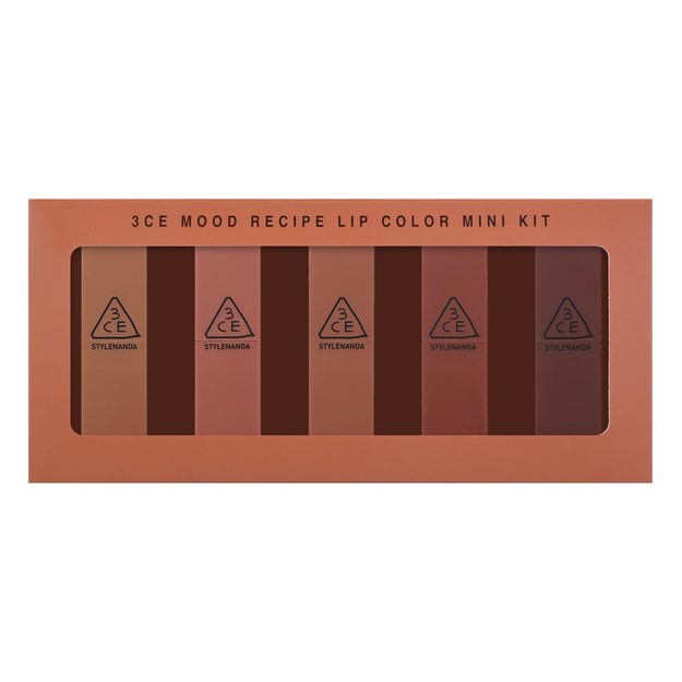 Product Detail - 3CE Mood Recipe Lip Color Mini Kit 5 Pieces - image 0