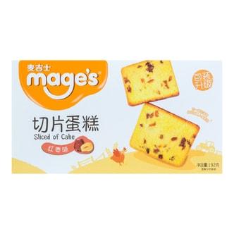 麦吉士 切片蛋糕 红枣味 192g