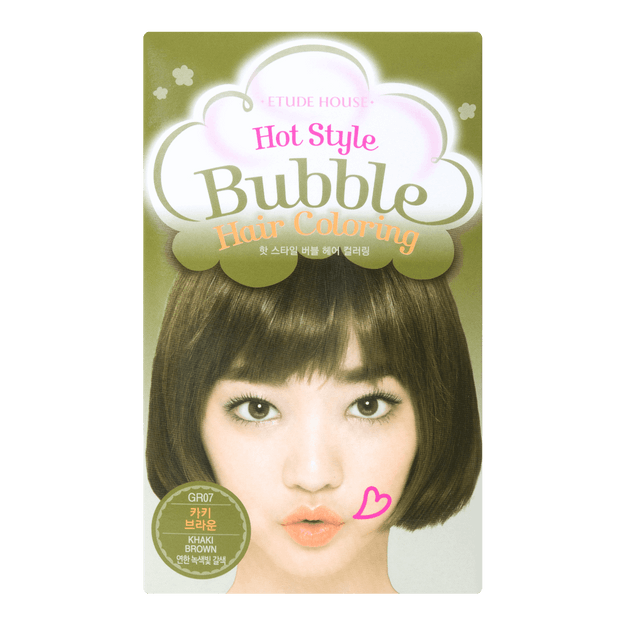Product Detail - ETUDE HOUSE HOT STYLE Bubble Hair Coloring Khaki Brown  #GR07 - image 0
