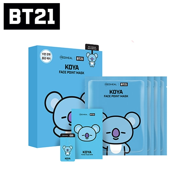 Product Detail - MEDIHEAL BT21 KOYA Face Point Mask (4pcs) - image 0