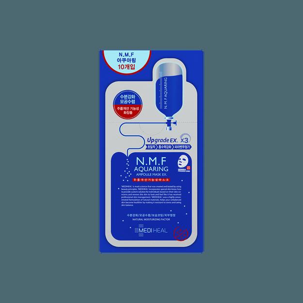 商品详情 - 韩国MEDIHEAL美迪惠尔(可莱丝) N.M.F 补水保湿针剂水库面膜贴 EX 10片入 - image  0