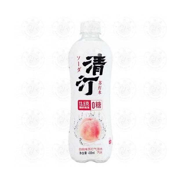 商品详情 - 清汀 白桃味蘇打氣泡水450ml - image  0