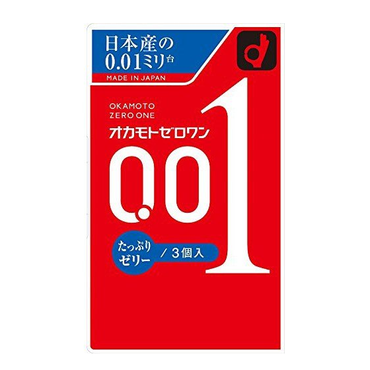 OKAMOTO 0.01 Condoms Lubrication Type 3pc
