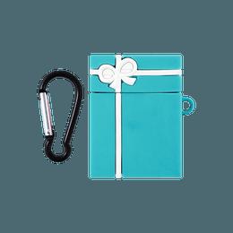 苹果AirPods 硅胶保护套 耳机保护套 可爱个性ins风 适用于AirPods 一代/二代 无线充电版 蒂凡尼蓝礼盒