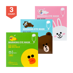 【3盒超值装】韩国MEDIHEAL美迪惠尔(可莱丝) LINE FRIENDS 蒸汽眼罩 3盒特惠 共30枚 #薰衣草香型+#西柚香型+#无香型