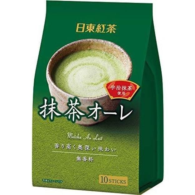 商品详情 - 【日本直邮】NITTOH 日东红茶   抹茶拿铁奶茶欧蕾速溶饮料奶茶 10条入 - image  0