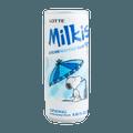 韩国LOTTE乐天 牛奶苏打水碳酸饮料 原味 250ml 包装随机发