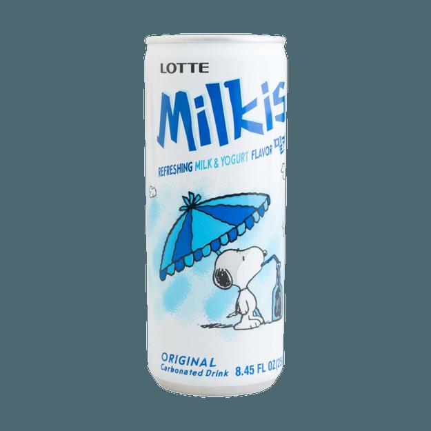 商品详情 - 韩国LOTTE乐天 牛奶苏打水碳酸饮料 原味 250ml 包装随机发 - image  0