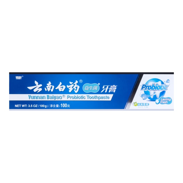 Product Detail - Yunnan Baiyao Toothpaste Probiotic Mint 100g - image 0