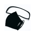 SiDNEYLE Reusable Cloth Face Mask with Removable Eye Shield #Black 1 Pack