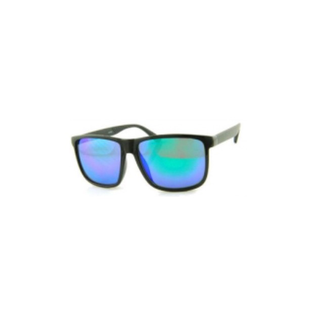 Product Detail - RETRO POP Fashion Sunglasses 26009 Black Frame/Purple&Green Mirror - image 0