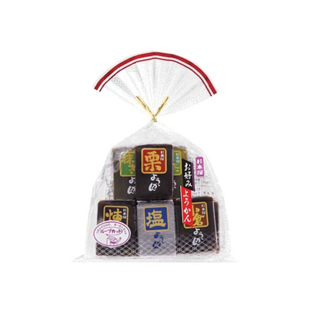 SUGIMOTOYA Red Bean Jelly 5 Flavors 360g