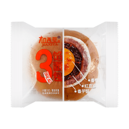 GARCIA Red Bean Paste Bread with Taro Orange Paste 1pcs