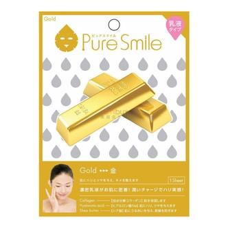 日本PURE SMILE  乳液精华面膜 金箔保湿紧肤 单片入