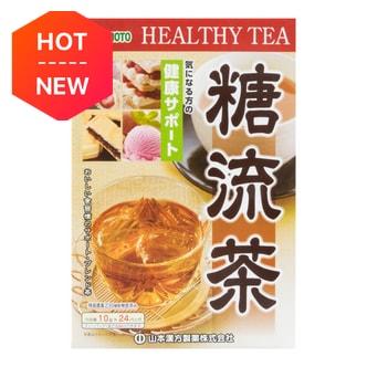 日本山本汉方制药 糖流茶 24包入 240g 只要美味不要糖