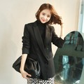 [韩国直邮] WINGS 韩国双排扣女西装外套 #黑色 M(36-38)