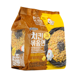 韩国PALDO 辣味鸡丝炒面   4连包  130g * 4