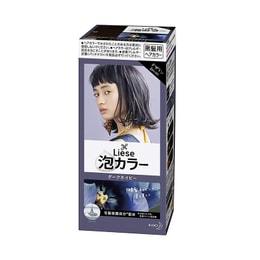 日本KAO花王 LIESE PRETTIA 泡沫染发剂 #暗夜蓝色 单组入