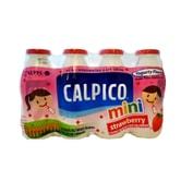 日本CALPICO 无碳酸天然无色素乳酸菌酸奶饮料 草莓味 迷你4瓶装