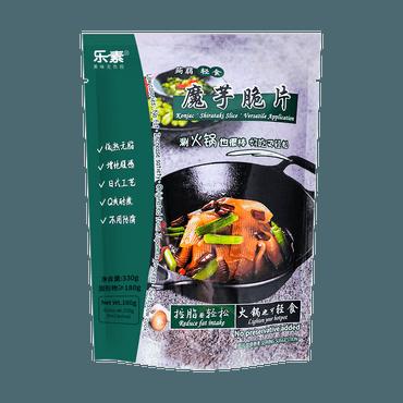 【减脂期也可以吃火锅】乐素 魔芋脆片 330g