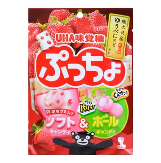 UHA PUCCHO Bag Strawberry Candy 76g