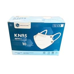 中国GREENCARE格林特卫 5层加护KN95 口罩 可塑型鼻夹+舒适鼻垫+超声波加强筋 白色 单片包装 10片/盒