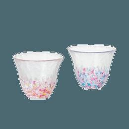 ISHIZUKA GLASS 石塚硝子||津轻玻璃樱花清酒杯FS-62507||2个/盒