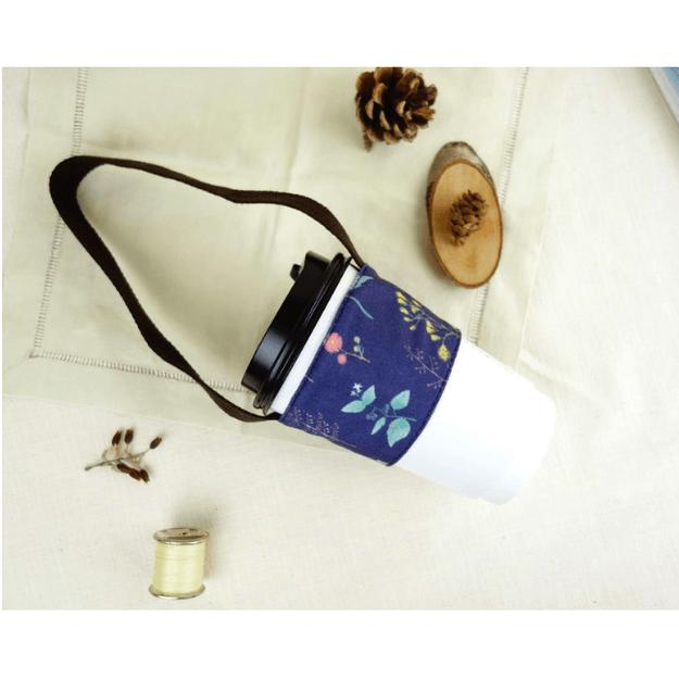Product Detail - MONKEY DESIGN Double Layer Beverage Bag #Plant-indigo - image 0