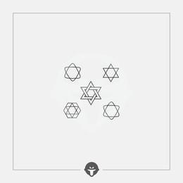 @BECOME Original Tattoo Stickers Six stars Three Piece