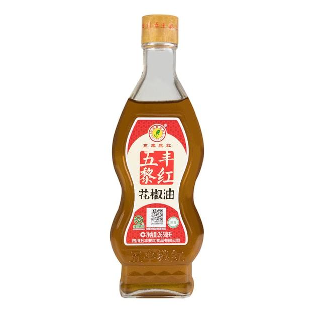 商品详情 - 五丰黎红 清真 花椒油 玻璃瓶装 265ml 四川特产 - image  0