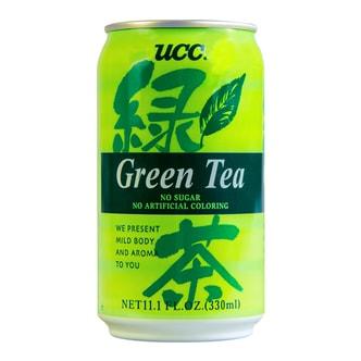 日本UCC 绿茶 无糖无人工色素 罐装 330ml