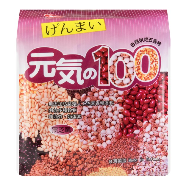 商品详情 - 台湾鸿津 元气100 自然烘焙五谷棒 黑芝麻味 185g - image  0