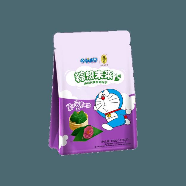 商品详情 - 潘祥记 哆啦A梦系列粽子 紫米蜜枣粽 3个入 300g - image  0