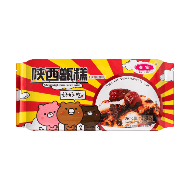 Product Detail - QINZONG Rose Brown Sugar Rice Cakes 350g - image 0
