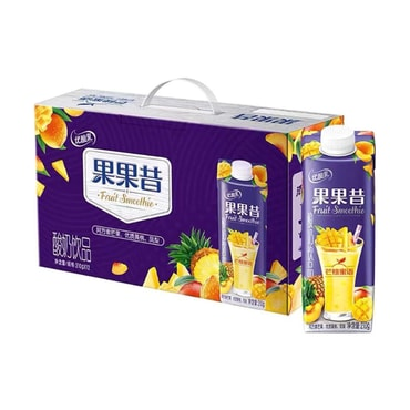 YILI Fruit Smoothie Yogurt Mango and Peach 210g*12