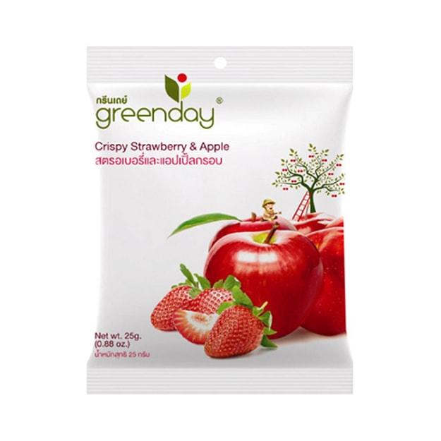 商品详情 - 泰国GREENDAY 香脆草莓苹果片脆片 25g - image  0