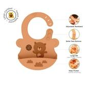 UNCLEWU 婴儿硅胶防水围兜- 小熊BOPO
