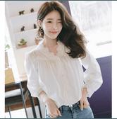 【韩国直邮】ATTRANGS韩国时尚女士淑女长袖衬衫  象牙色 均码