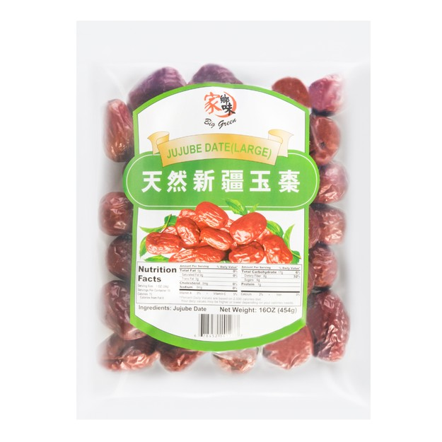 Product Detail - BIG GREEN Large Jujube Date 454g - image 0