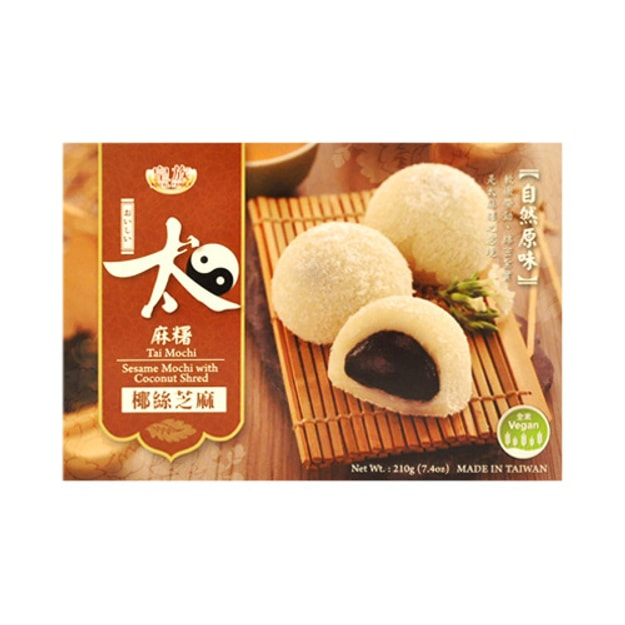 Product Detail - ROYAL FAMILY Tai Mochi Sesame Mochi With Coconut Shred 210g - image 0