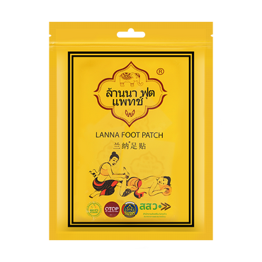 泰国兰纳LANNA 排毒祛湿气足贴 清体养颜排浊 10片