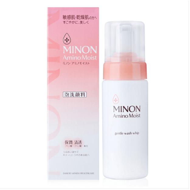商品详情 - 【日本直邮】日本第一三共 MINON氨基酸保湿洁面泡沫洗面奶 干燥肌敏感肌用 150ml - image  0