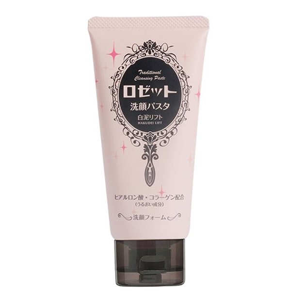 ROSETTE White Clay Moisturizing Facial Wash 120g