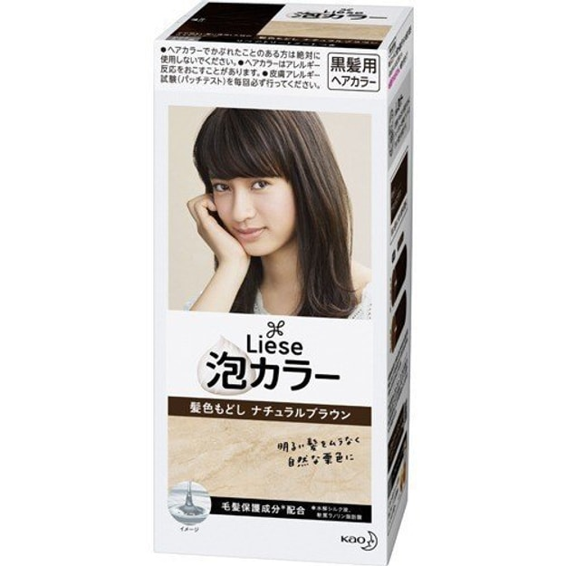 Product Detail - KAO LIESE PRETTIA Bubble Hair Dye #Return Natural Brown 108ml - image 0