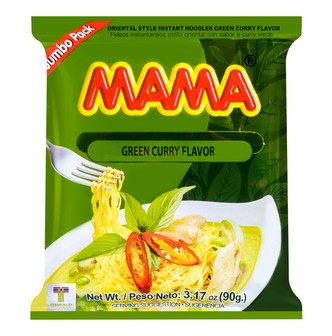 MAMA Oriental Style Instant Noodles Green Curry Flavor 90g
