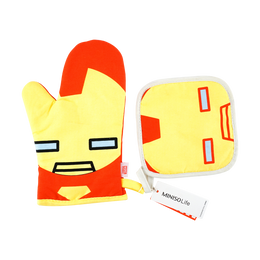 Miniso MARVEL Cooking Mittens + Pot Holder #Iron Man
