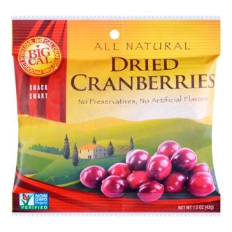 美国BIGCAL比格家 阳光干果系列 新鲜蔓越莓干 随手包 43g