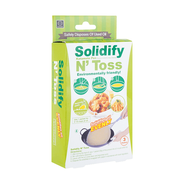 Product Detail - Solidify N\' Toss Waste Oil Hardener Disposal Pack 20gx3pks Environmentally Friendly - image  0