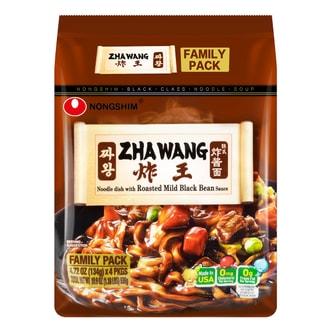 NONGSHIM Zha Wang Instant Noodles 4 packs 536g