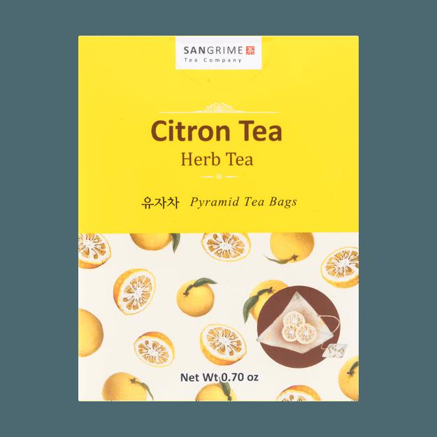 商品详情 - 韩国JAYONE SANGRIME  三角茶包系列 柚子茶 10包入 20g - image  0